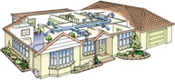 Diagram of a ducted house | LCM Air Conditioning