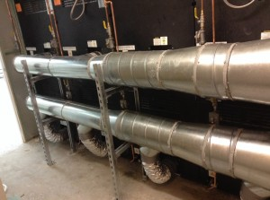 Green Laundry ductwork